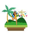 woman celebrating brazil carnival vector image vector image