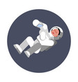 woman cosmonaut fly in zero gravitation vector image
