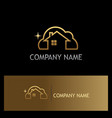 clean house gold logo vector image