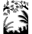 Tree Silhouette isolated vector image
