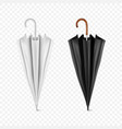 3d realistic render white and black blank vector image vector image