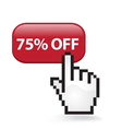 75 Off Button vector image vector image