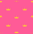 abstract seamless pattern with king princess vector image vector image