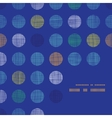 Abstract textile polka dots on blue frame corner vector image