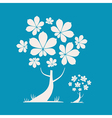 Abstract Tree with Chestnut Leaves on Blue B vector image vector image