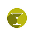 Alcohol beverage theme icon classic martini glass vector image vector image