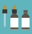 Aroma bottle with dropper icons set vector image