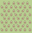 avocado pattern colorful in light green background vector image