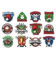 baseball sport game icons vector image vector image