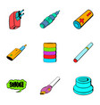 battery icons set cartoon style vector image vector image