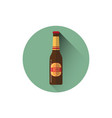 beer bottle icon oktoberfest festival holiday vector image