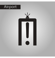 black and white style icon airport scanner vector image vector image