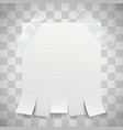 blank advertisement with tear off tabs and vector image vector image