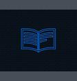 book sign icon open book symbol vector image vector image