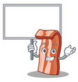 bring board bacon character cartoon style vector image vector image