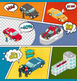 cars sale comic book page vector image vector image