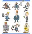 cartoon set of businessmen or men vector image vector image