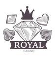 casino gambling activity monochrome sketch vector image vector image