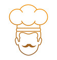 chef head avatar character vector image vector image