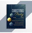 christmas party flyer invitation template with vector image vector image
