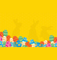 collection of bunny and egg easter backgrounds vector image vector image
