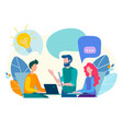conversation communication discussion in the vector image vector image