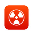 danger nuclear icon digital red vector image vector image