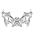 Decorative bat element tattoo vector image vector image