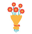 design of floral bouquet icon vector image