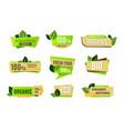 ecology icon colorful tags for natural and vector image