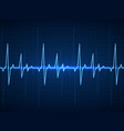 ekg blue sinusoidal pulse lines monitor vector image