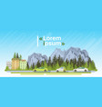 electrical cars on road over mountains summer vector image