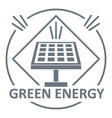 energy logo simple gray style vector image