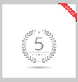 five stars icon vector image vector image