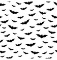 flying bats seamless pattern vector image