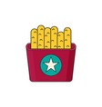 french fries in color flat icon style vector image vector image
