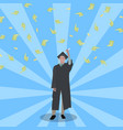 happy student win grant to study scholarship vector image vector image
