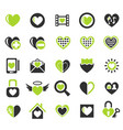 heart love icon set vector image vector image