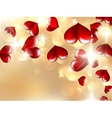 Hearts And Valentins Day Card vector image vector image