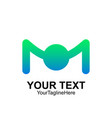 initial letter m logo template colorful design vector image