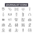 journalist line icons for web and mobile design vector image