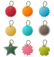 key chain tag a set key chain in many shapes vector image vector image