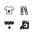 laundry simple related icons vector image vector image