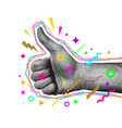 like gesture hand thumbs up hand vector image