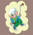 little mouse in ladle vector image