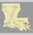 louisiana accurate exact detailed state map with vector image vector image