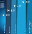 Modern blue design layout vector image vector image