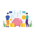 money saving concept vector image vector image