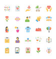 mothers day flat icons set vector image vector image