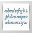 Original handwritten Latin Alphabet vector image vector image